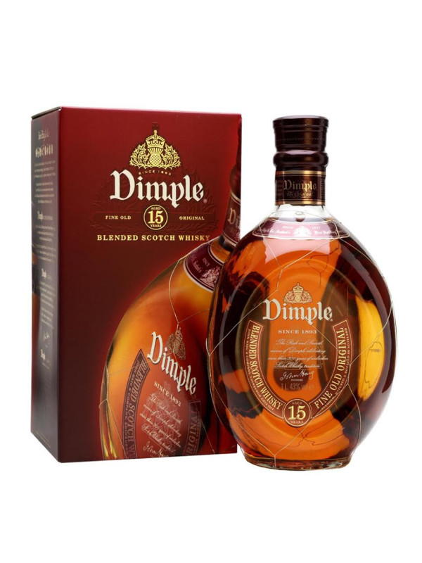 Dimple - Scotch blended whisky 15yo - 0,7L, Alc: 40%