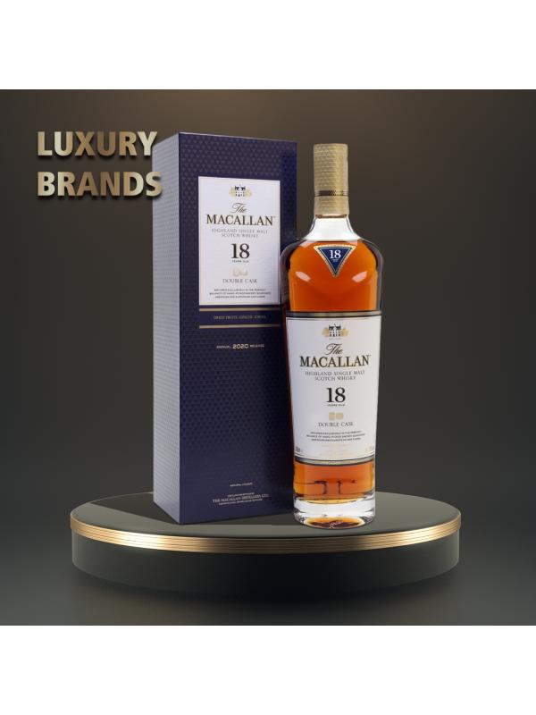 Macallan - Double Cask Scotch Single Malt Whisky 18 yo GB - 0.7L, Alc: 43%