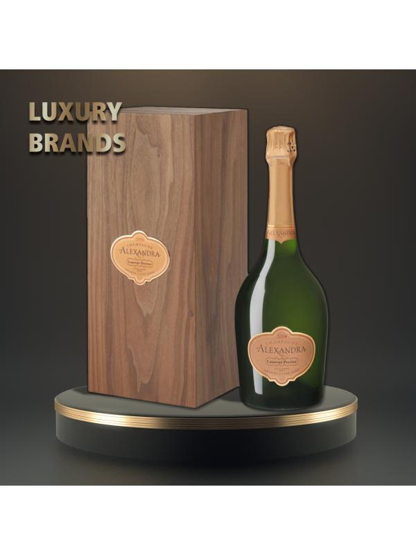 Laurent Perrier - Sampanie Alexandra rose wooden box - 0.75L, Alc: 12%