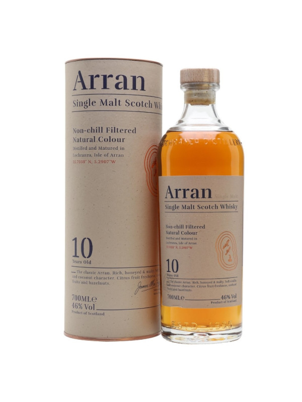 Arran - Scotch Single Malt Whisky 10 yo GB - 0.7L, Alc: 46%