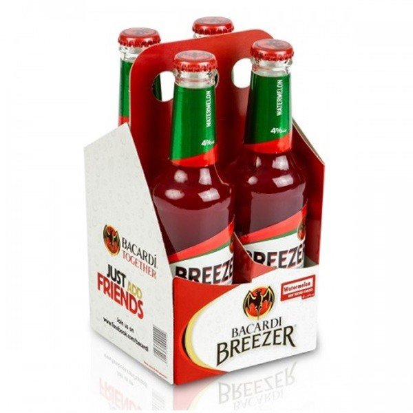 Bacardi Breezer - RTD watermelon 0.275 L x 4 pack, Alc: 4%