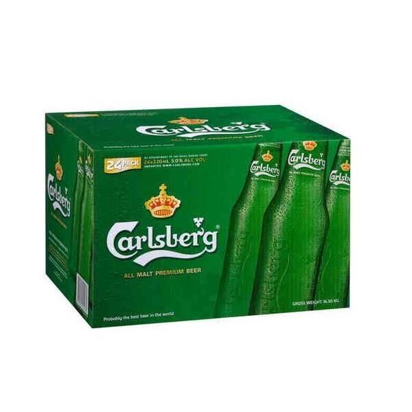 Carlsberg - Bere 24 bucati x 0,33 - sticla, Alc: 5.2%