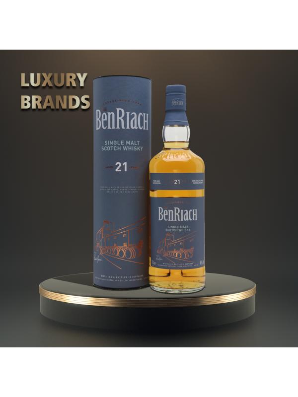 The BenRiach - Flagship Scotch Single Malt Whisky, 21 yo GB - 0.7L, Alc: 46%