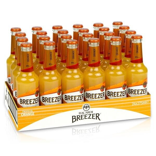 Bacardi Breezer - orange 0.275 L X 24