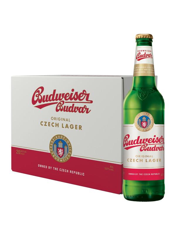 Budweiser Budvar - Bere Lager 20 buc. x 0.5L, sticla, Alc: 5%