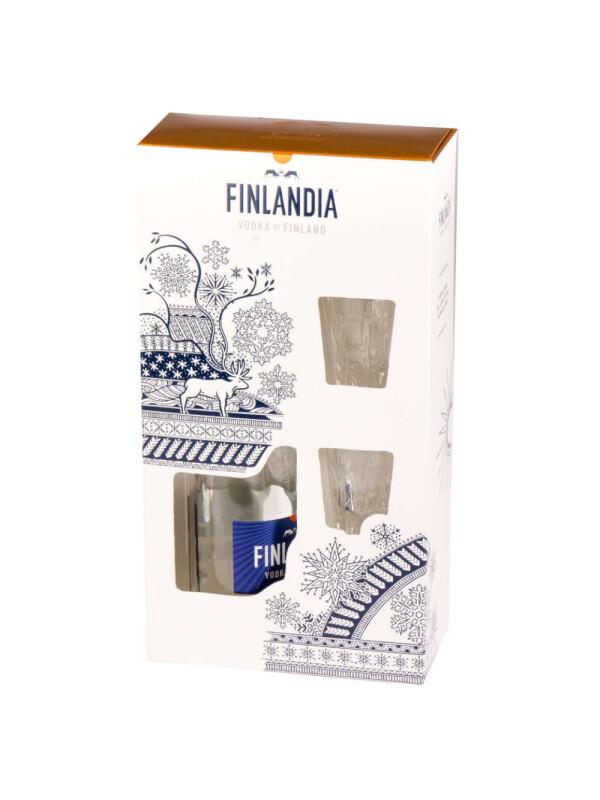 Finlandia - Vodka + 2 pahare - 0.7L , Alc: 40%