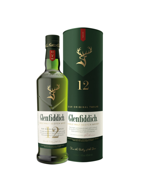 Glenfiddich - Scotch single malt whisky 12 yo - 0,7L, Alc: 40%
