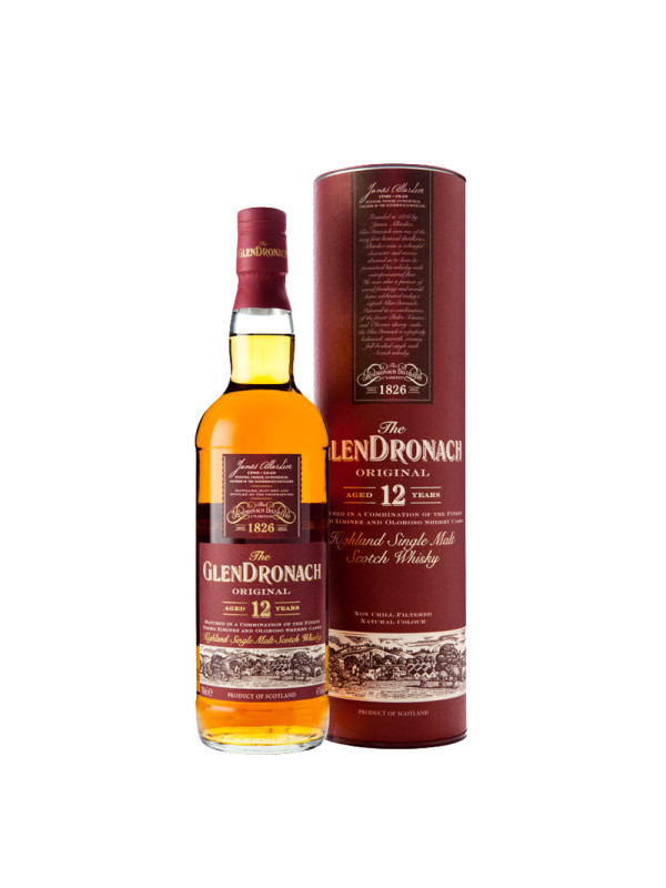 The Glendronach - Original Scotch single malt whisky 12yo - 0,7L, Alc: 43%