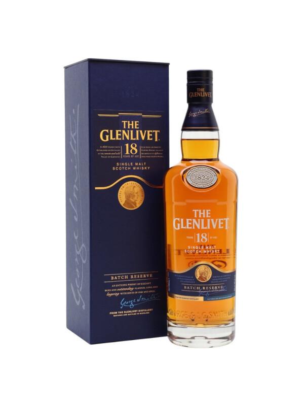 Glenlivet - Scotch single malt whisky 18 yo - 0.7L, Alc: 43%