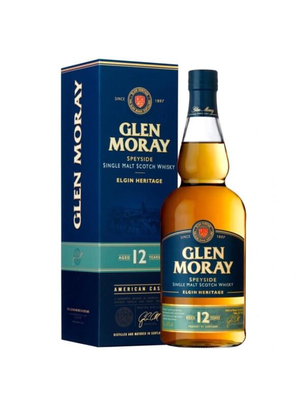 Glen Moray - Scotch single malt whisky 12yo - 0.7L, Alc: 40%