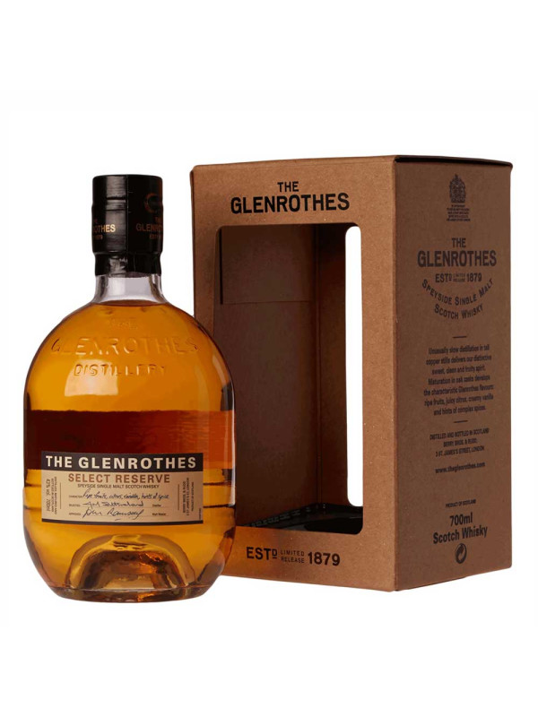 Glenrothes - Scotch single malt whisky Select Reserve gift box - 0.7L , Alc: 40%