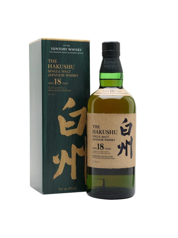 Hakushu - Japanese single malt whisky 18 yo - 0.7L, Alc: 43%