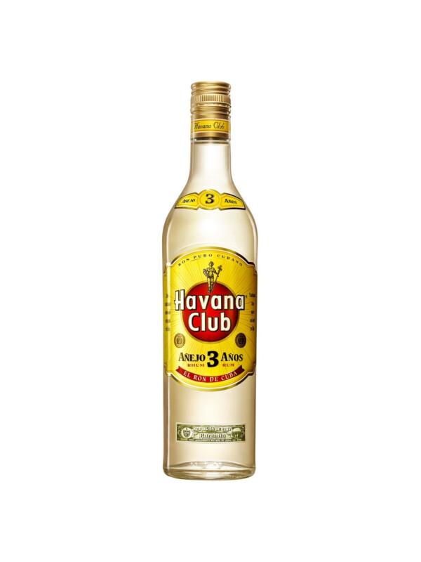 Havana Club - Rom 3 yo - 0.7L, Alc: 40%