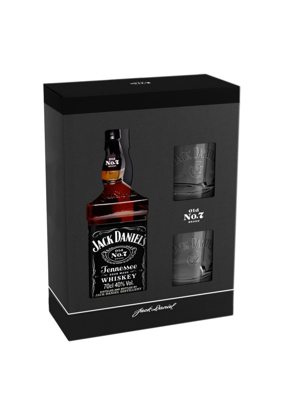 Jack Daniel's - Tennessee whiskey gb + 2 pahare - 0.7L, Alc: 40%