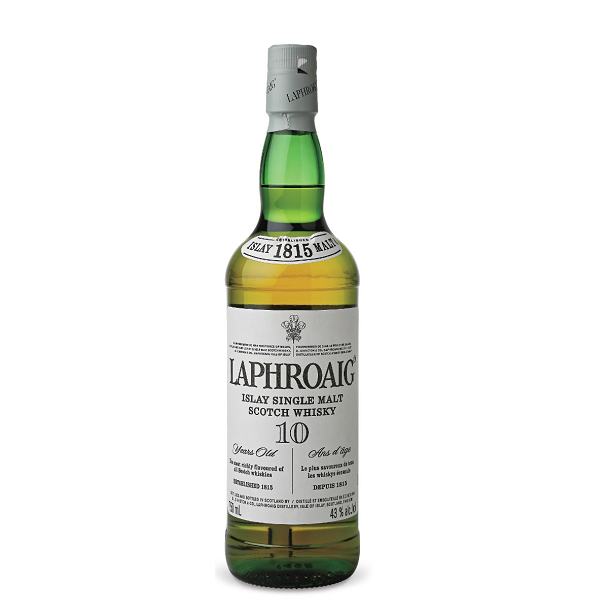 Laphroaig - Scotch single malt whisky 10 yo - 0.7 L, Alc: 40%