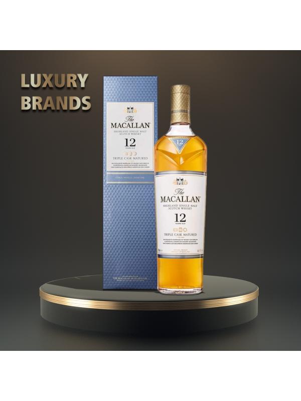 Macallan - Triple Cask Scotch Single Malt Whisky 12yo GB - 0.7L