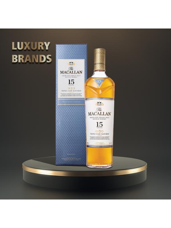 Macallan - Triple Cask Scotch Single Malt Whisky 15 yo GB - 0.7L, Alc: 43%