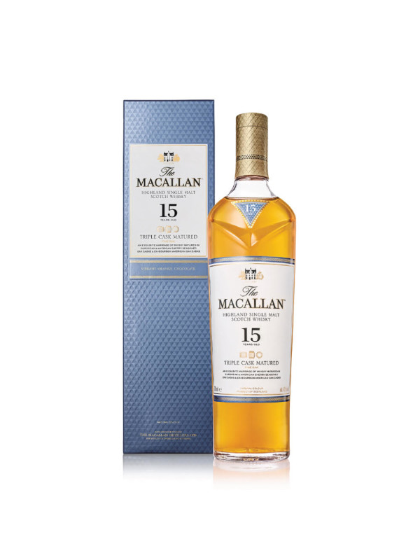 Macallan - Triple Cask Scotch single malt whisky 15 yo - 0,7L, Alc: 43%