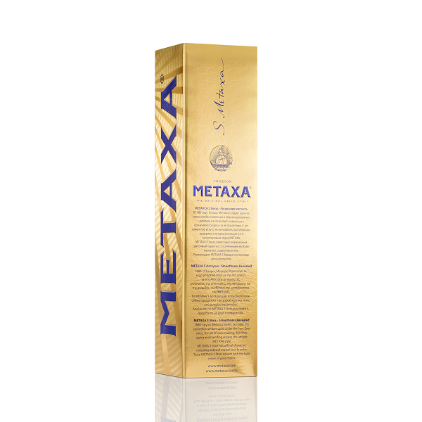 Metaxa - Brandy 5 stele Gold Pack - 0.7L, Alc: 38%