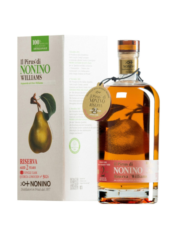 Nonino - Fruit Pirus Williams Riserva 2 yo - 0.5L, Alc: 43%