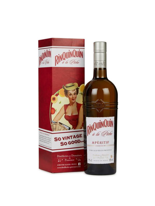 Rinquinquin a la Peche - Lichior aperitiv din piersici GB - 0.75L, Alc: 15%