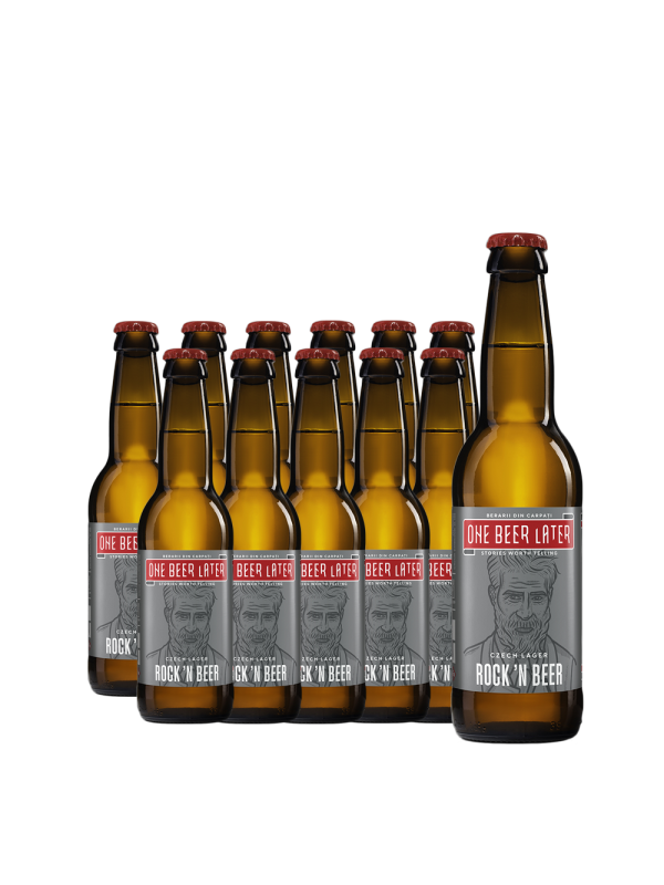One Beer Later - Bere artizanala Rock'N Beer 12 bucati x 0.33L, Alc: 5%