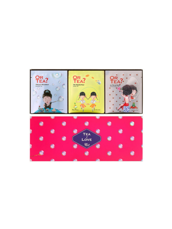 Or Tea? - ceai 3 in 1 Pachet combo Tea of Love 15 pl. x 35g