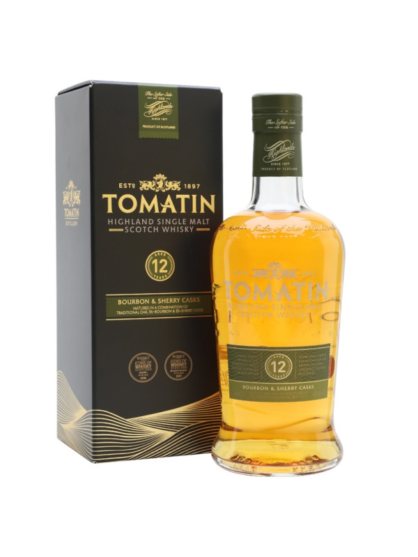 Tomatin - Scotch single malt whisky 12 yo - 0.7L, Alc: 43%