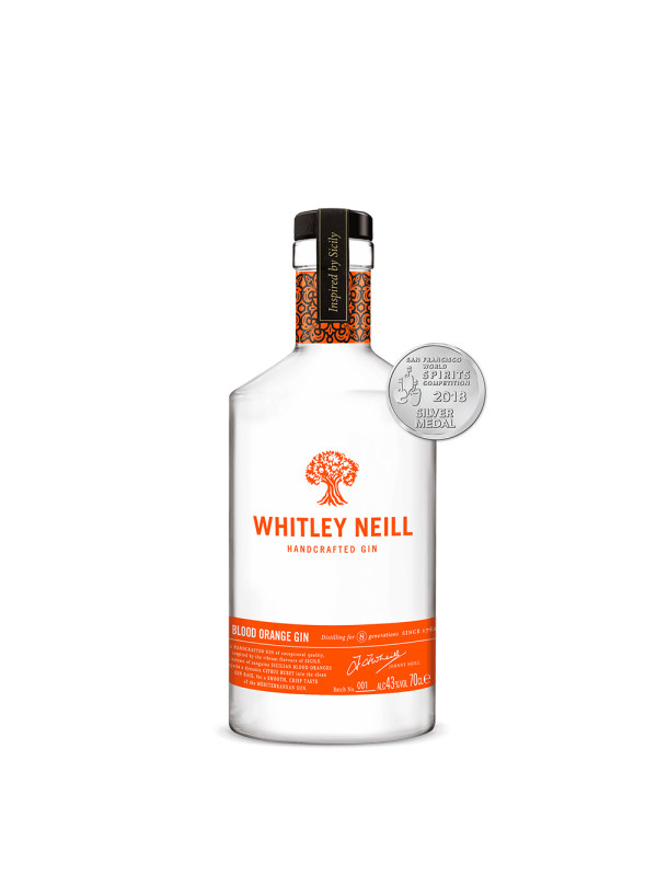 Whitley Neill - Gin Blood Orange - 0.7L, Alc: 43%