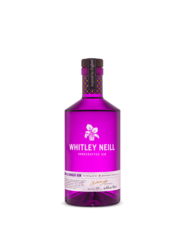 Whitley Neill - Gin Rhubarb & Ginger - 0.7L , Alc: 43%