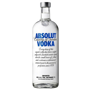 Absolut - Blue vodka - 1L, Alc: 40%