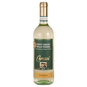 Tinazzi - Coresei, Pinot Grigio delle Venezie 2018 - 0.75L, Alc: 12%
