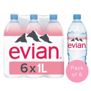 Evian - Apa minerala naturala (plata) 6 buc. x 1L - PET