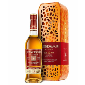 Glenmorangie - Lasanta Giraffe Scotch single malt whisky 12 yo, Tin  - 0.7L, Alc: 43%