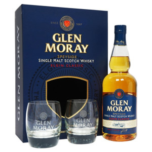 Glen Moray - Classic Scotch Single Malt Whisky + 2 pahare - 0.7L, Alc: 40%
