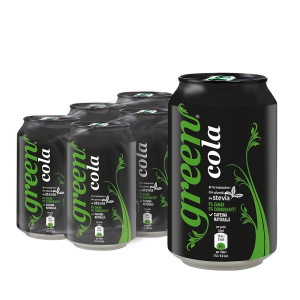 Bautura racoritoare carbogazoasa Green Cola 0.33ml x 6 buc