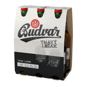 Budweiser Budvar - Bere Dark lager 24 buc x 0.33L - sticla, Alc: 4.7%