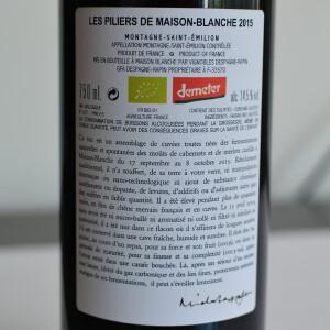 Vignobles Despagne Rapin - Les Piliers de Maison Blanche BIO 2015 - 0.75L, Alc: 14.5%
