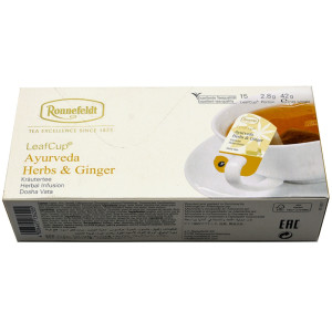 Ronnefeldt - Ceai Leafcup Ayurveda Herbs & Ginger 15 plic