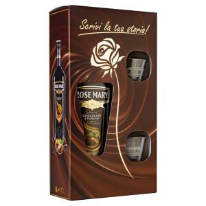 Rose Mary - Ciocolata  & Alune + 2 pahare - 1L, Alc: 15%