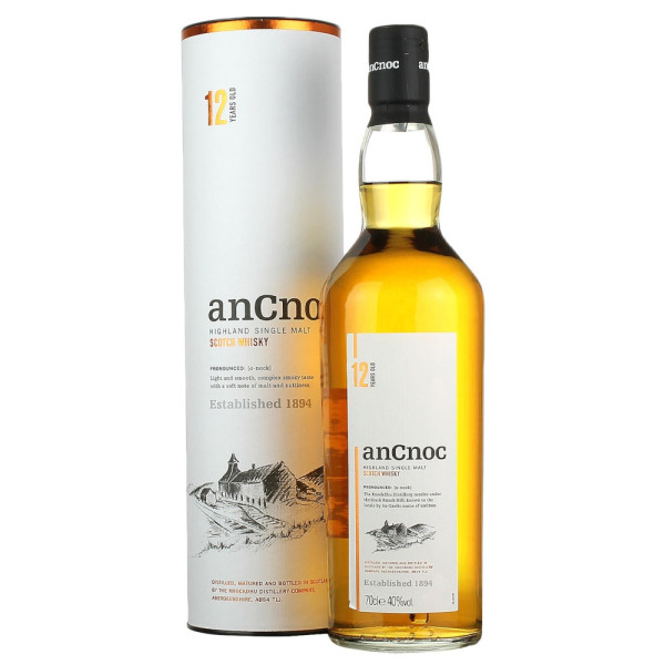 Ancnoc - Scotch single malt whisky 12 yo gb - 0.7L, Alc: 40%