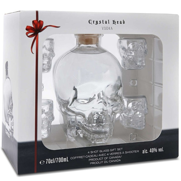 Crystal Head - Vodka + 4 shot - 0.7L, Alc: 40%