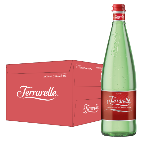 Ferrarelle - Apa minerala carbogazoasa 12 buc x 0.75L – sticla