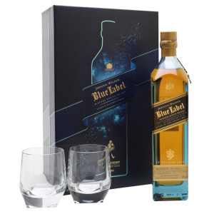 Johnnie Walker - Blue Label Scotch Blended Whisky GB + 2 pahare - 0.7L, Alc: 40%