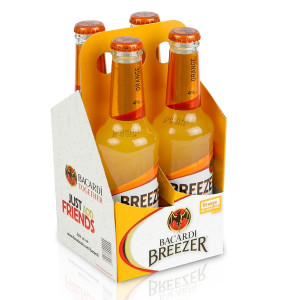 Bacardi Breezer - orange 0.275 L  - 4 pack