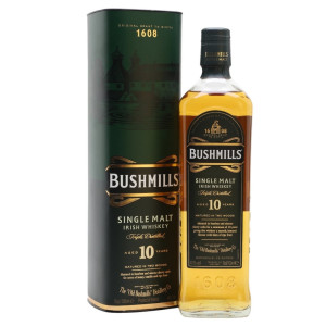 Bushmills - Single Malt Irish whiskey 10 yo, gb -  0.7L