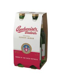 Budweiser Budvar - Bere Lager 4 buc. x 0.33L, sticla, Alc: 5%