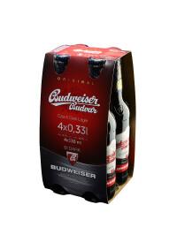 Budweiser Budvar - Bere Dark Lager 4 buc. x 0.33L, sticla, Alc: 4.7%