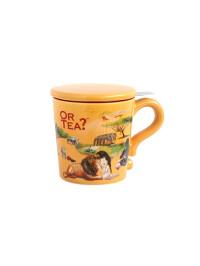 Or Tea? - Cana ceramica Dusk + capac si strecuratoare inox