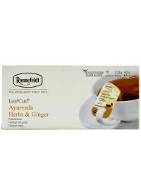 Ronnefeldt - Ceai Leafcup Ayurveda Herbs & Ginger 15 pl.